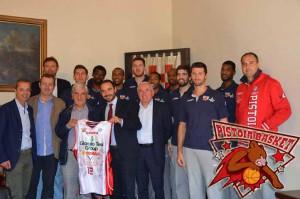 Bertinelli saluta il Pistoia Basket in Sala Gonfalone