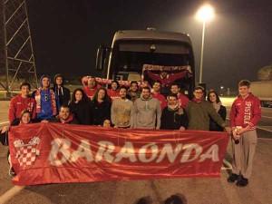 Un gruppo dei cento baraondini scesi a Caserta